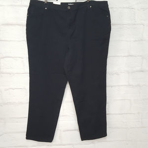 Style & Co Tapered Jeans Black Sz 24 WP